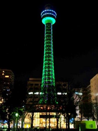 横浜マリンタワー 聖パトリックデー