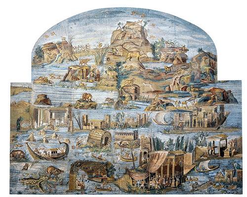 パレストリーナのナイルモザイク画